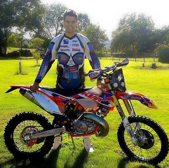 anthony raynal pilote klorophyl light elite moto ktm