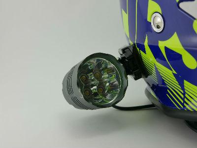 lampe pour casque moto vtt enduro klorophyl unifire led. Black Bedroom Furniture Sets. Home Design Ideas