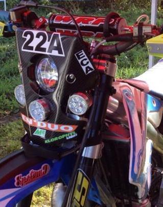 plaque phare x1 tm racing